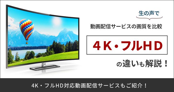 動画配信サービスの画質を生の声で比較!4K・フルHDの違いも解説!