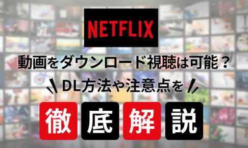 Netflixで動画をダウンロード視聴は可能?DL方法や注意点を徹底解説!